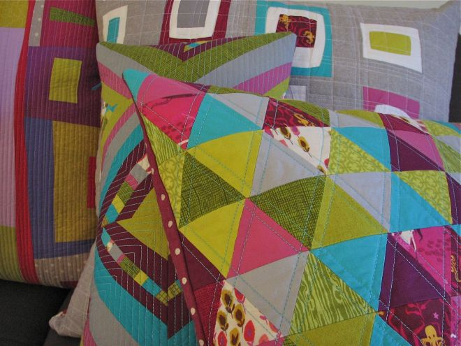 sewkatiedid:modern patchwork workshop/series II/ equalateral triangle