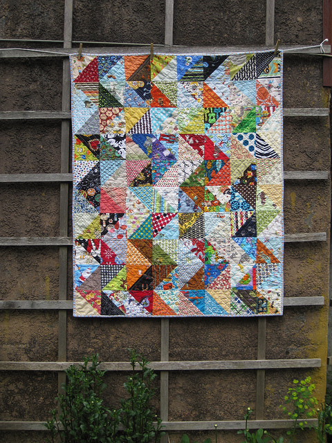 value quilt in a zig zag pattern