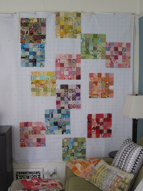making a quilt design wall SEW KATIE DID