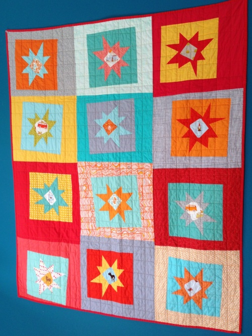 sewkatiedid/Happy Snowballed Sunshine quilt