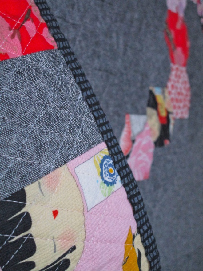 SEW KATIE DID: Binding:Somewhat Circular Hex Quilt