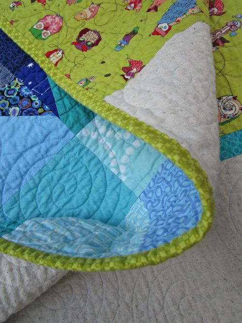 SEW KATIE DID:Night Owl Quilt Binding