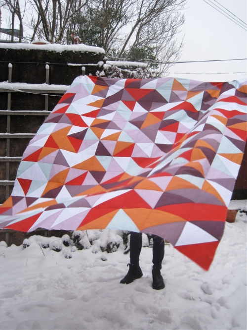 SEW KATIE DID/Pantone Pop HST Quilt