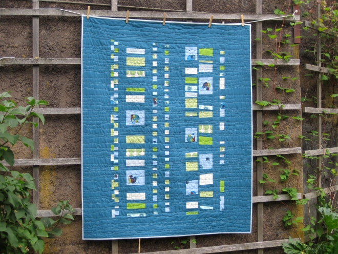 SEW KATIE DID/Improvisational Coin Quilt