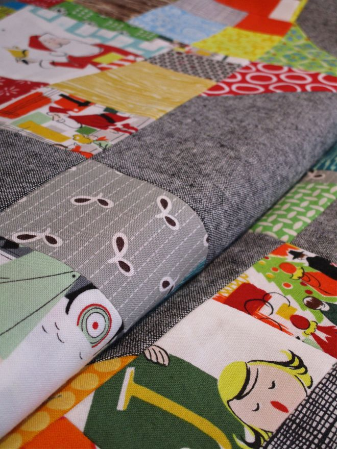SEW KATIE DID:Split Personality Christmas Quilt Folded