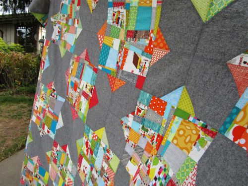 SEW KATIE DID:Split Personality Christmas Quilt partial