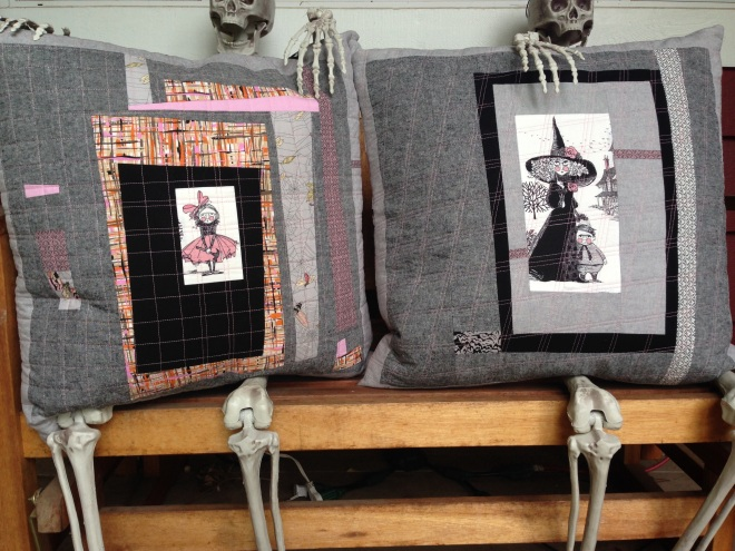 SEW KATIE DID:Improv Patchwork Workshop:Halloween Pillows