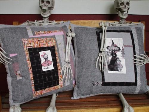 SEW KATIE DID:Improv Patchwork Workshop:Halloween Pillows
