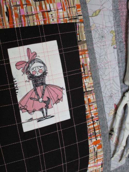SEW KATIE DID:Improv Patchwork Workshop:Hammer Girl Pillow