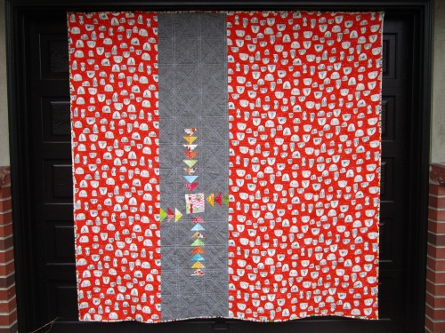 SEW KATIE DID:Split Personality Christmas quilt back