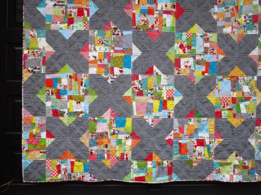 SEW KATIE DID:Split Personality Christmas Quilt Section