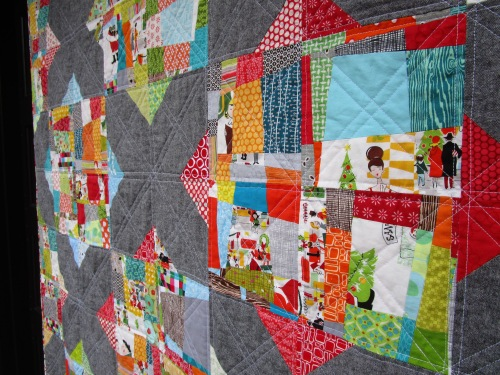SEW KATIE DID:Split Personality Christmas Quilt Side block