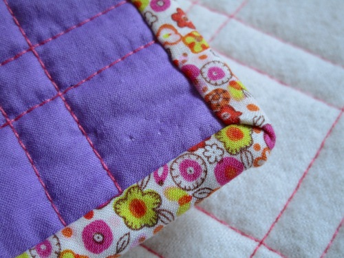 SEW KATIE DID:Garden Quilt Magic Number Quilt Binding edge