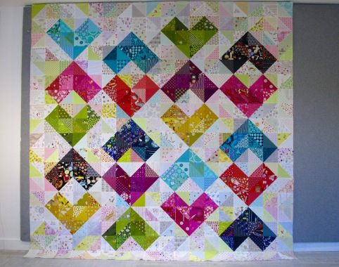 SEW KATIE DID:Warm and Cool Hearts Value Quilt Tutorial Full